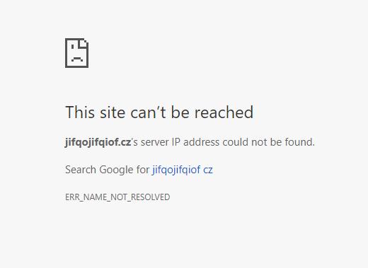 Nefunkčnost webů
