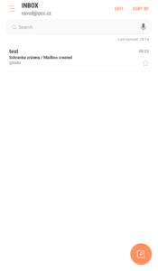 Nastavení Samsung Email 5