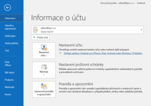 Změna host pro Outlook